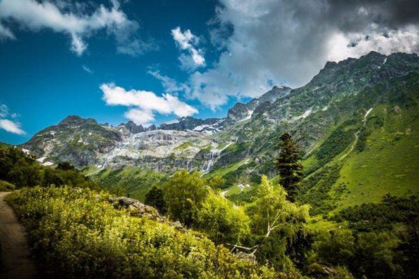 Софийские водопады. Панорама.