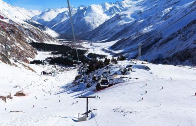 Эльбрус зимой