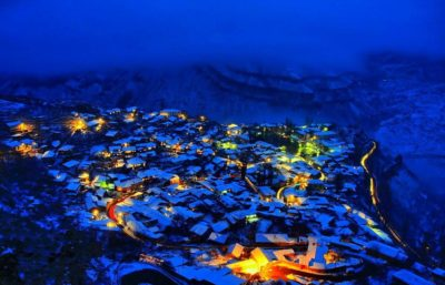 Зимний вечер в Гунибе